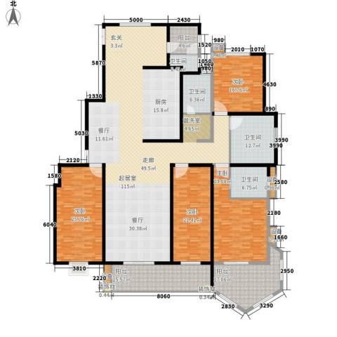香格里拉4室0厅4卫0厨297.00㎡户型图