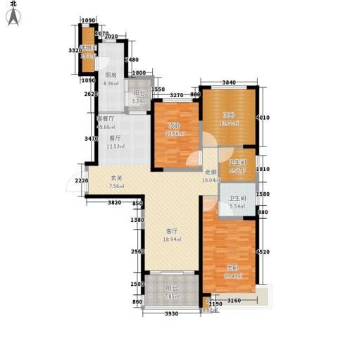 沧州恒大城3室1厅2卫1厨147.00㎡户型图