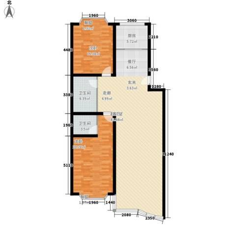 美里苑2室0厅2卫1厨122.00㎡户型图