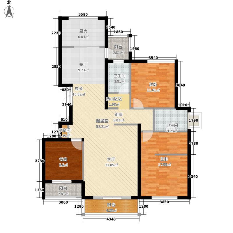 福美悦榕湾126.00㎡户型8户型3室2厅2卫