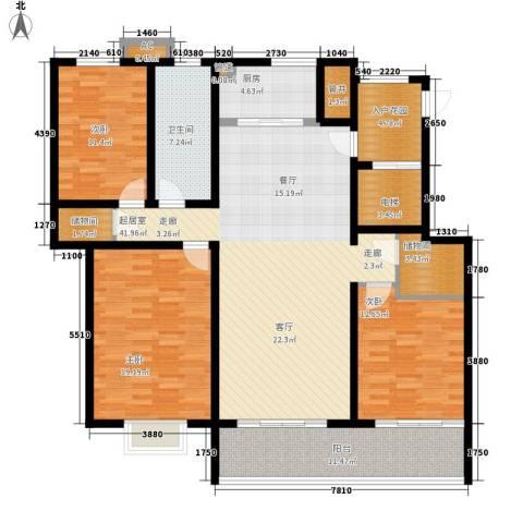 大顺花园3室0厅1卫1厨179.00㎡户型图