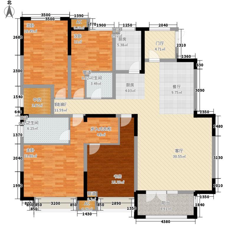 天安珑园198.00㎡一期洋房56-58-59-65-66号楼标准层a2户型