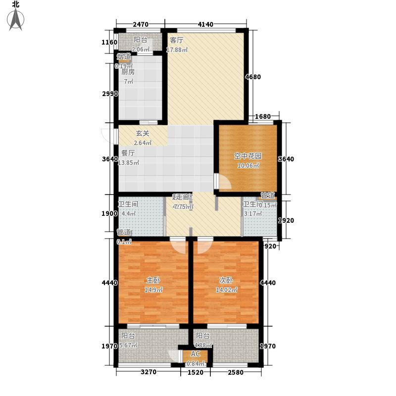 银湖花园127.33㎡4号楼、5号楼1-28层I户型