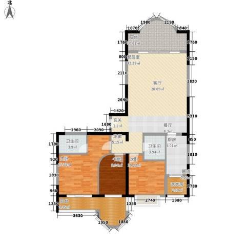 国际海景城3室0厅2卫1厨120.00㎡户型图