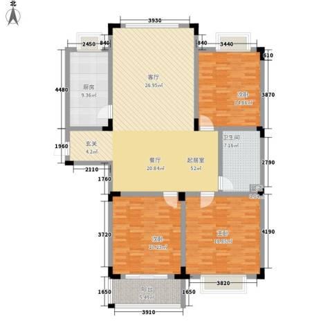 丽景苑3室0厅1卫1厨140.00㎡户型图