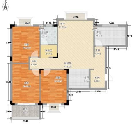丽景苑3室0厅1卫1厨107.00㎡户型图