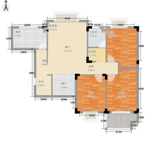 丽景苑3室0厅1卫1厨106.00㎡户型图