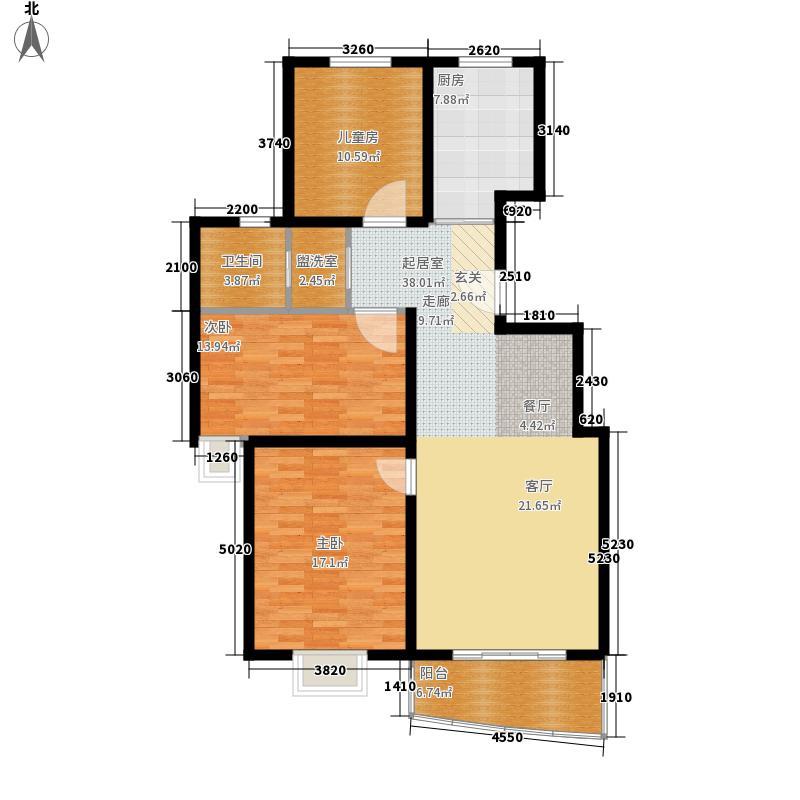 万国金色家园113.15㎡1面积11315m户型
