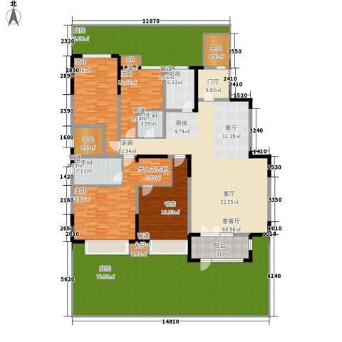 天安珑园4室1厅2卫1厨273.36㎡户型图
