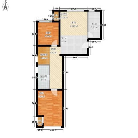 住总众邦·长安生活港2室0厅1卫1厨104.00㎡户型图