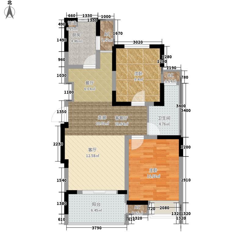 中电颐和家园85.00㎡三期06-07号面积8500m户型