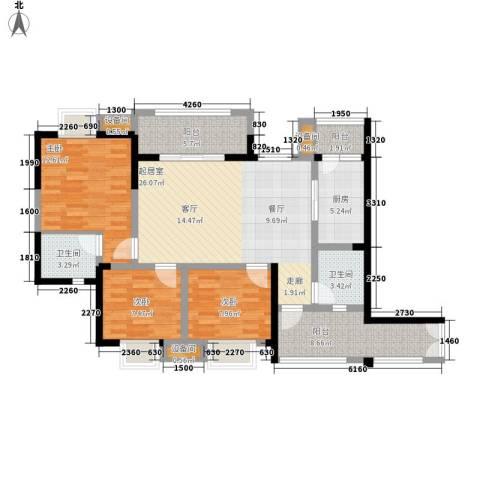 神州南都3室0厅2卫1厨114.00㎡户型图
