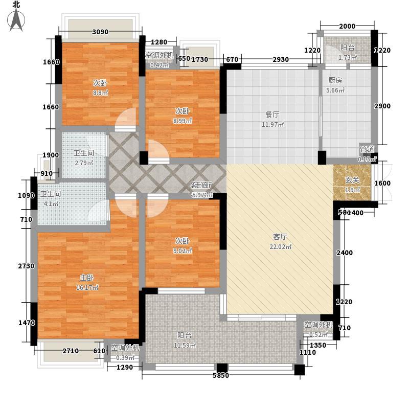 凯旋城148.43㎡二期12#楼18层03户型