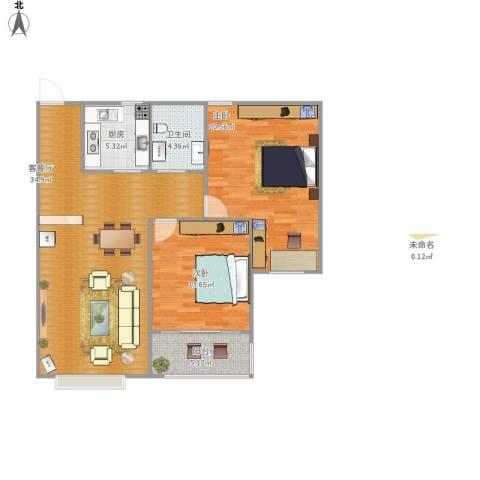星光东昌丽都2室1厅1卫1厨112.00㎡户型图