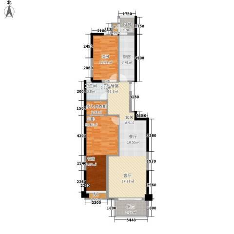 晶城秀府2室0厅1卫1厨105.00㎡户型图