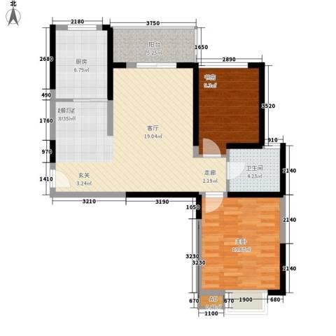 天香心苑2室0厅1卫1厨81.00㎡户型图