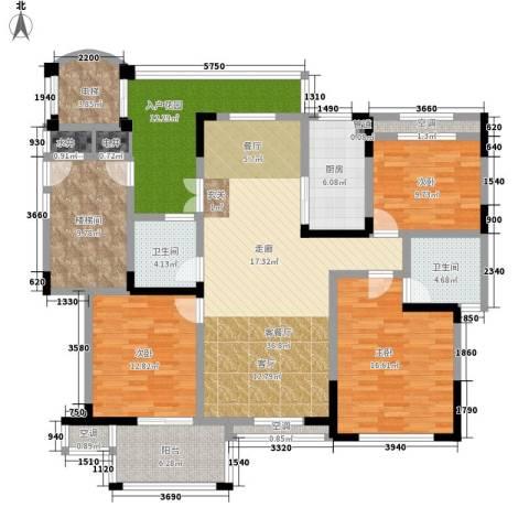 东方世纪城3室1厅2卫1厨188.00㎡户型图