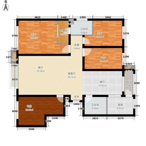 银湖馨苑4室1厅2卫1厨154.27㎡户型图