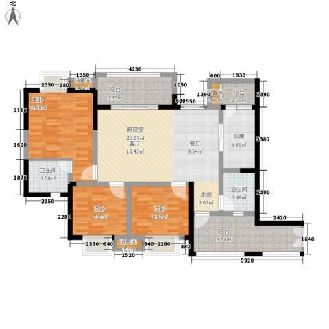 神州南都3室0厅2卫1厨112.00㎡户型图