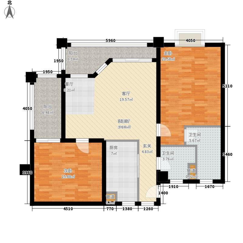 夏威夷海岸131.00㎡公寓户型