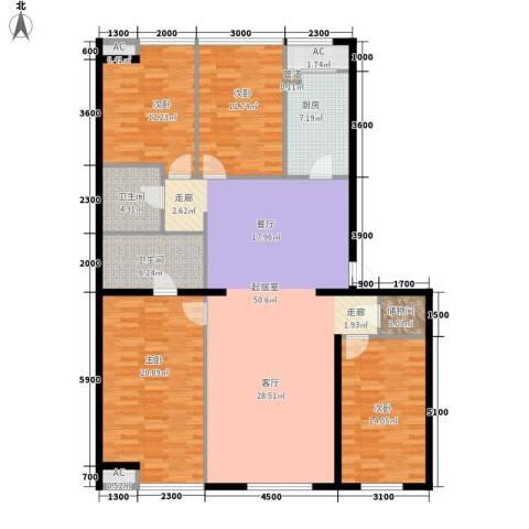 吉祥馨苑4室0厅2卫1厨184.00㎡户型图