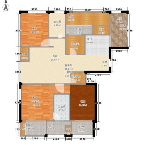 荣域花园2室1厅2卫1厨138.00㎡户型图