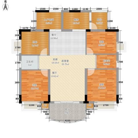 森邻美域4室0厅2卫1厨119.46㎡户型图