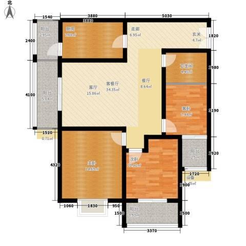 正天雅居3室1厅1卫1厨135.00㎡户型图