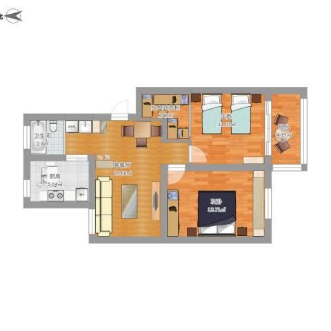 运光新村2室1厅1卫1厨89.00㎡户型图