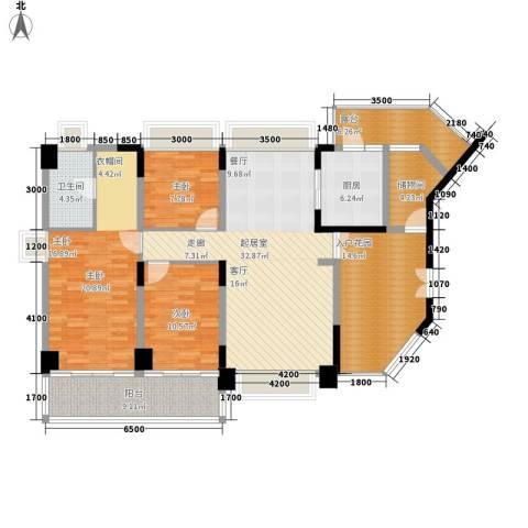 水云居3室0厅1卫1厨135.00㎡户型图