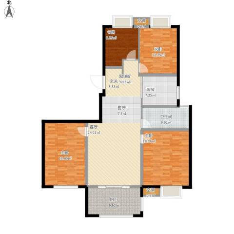 香水郡4室1厅1卫1厨171.00㎡户型图