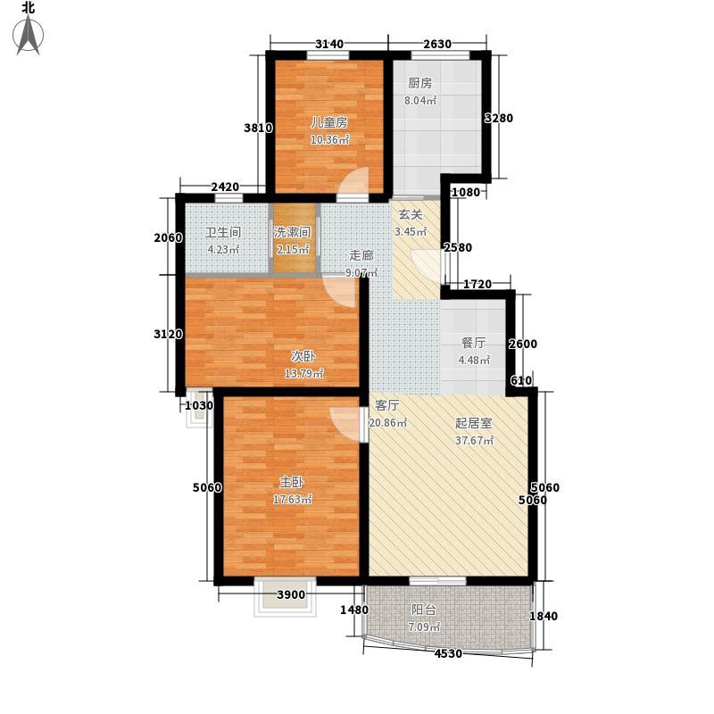 万国金色家园113.37㎡1面积11337m户型
