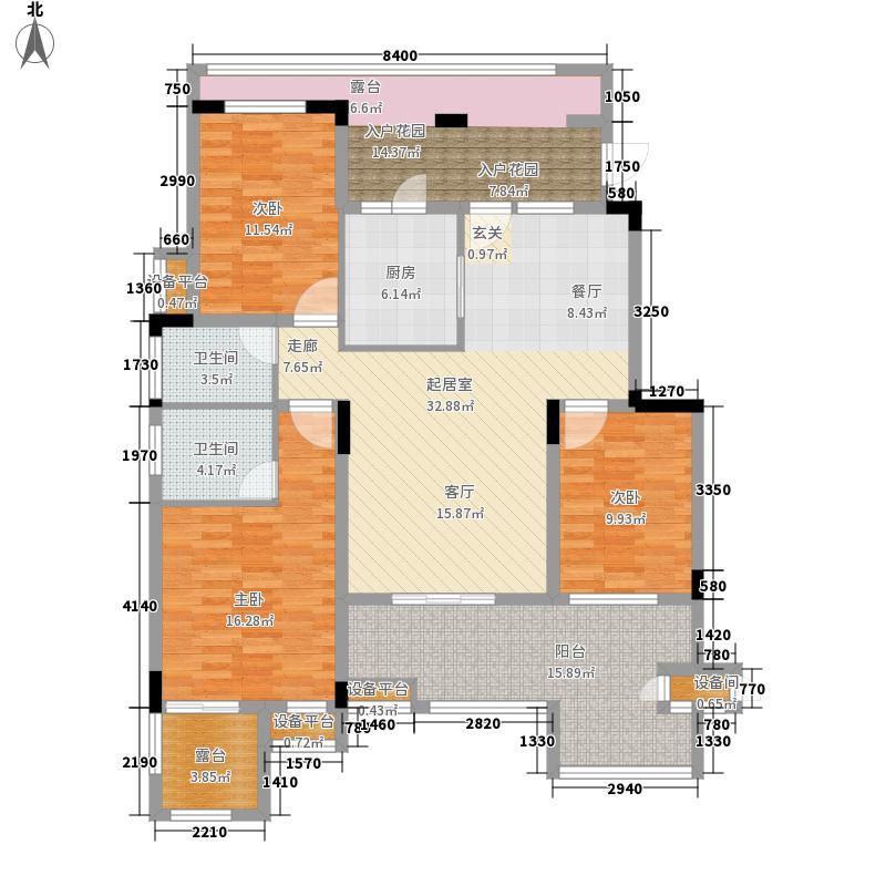 旭辉朗香郡108.72㎡一期2号楼A3-面积10872m户型