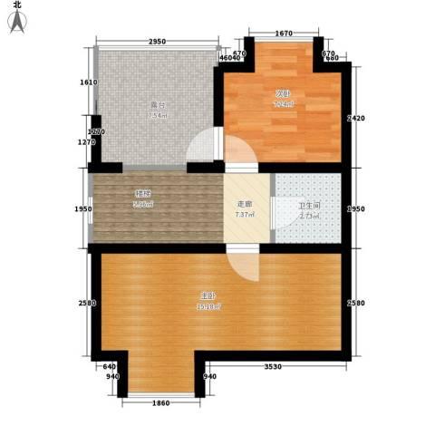 锦园别墅2室0厅1卫0厨58.00㎡户型图
