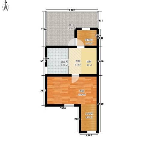 锦园别墅1室0厅1卫0厨74.00㎡户型图