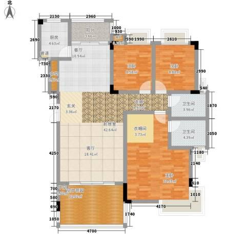 盛世名门3室0厅2卫1厨130.00㎡户型图