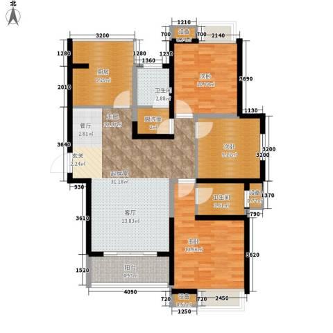 万国金色家园3室0厅2卫1厨121.00㎡户型图
