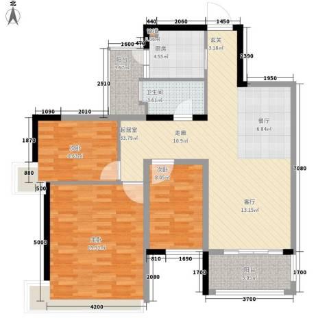 增城雅居乐御宾府3室0厅1卫1厨99.00㎡户型图
