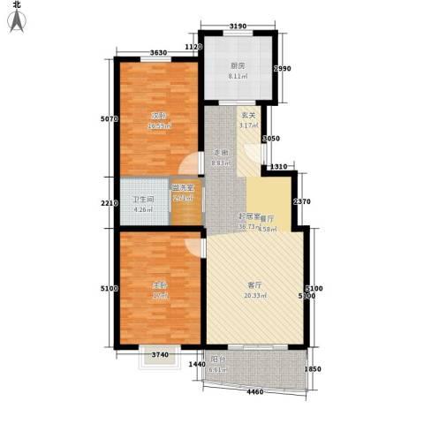 万国金色家园2室0厅1卫1厨104.00㎡户型图