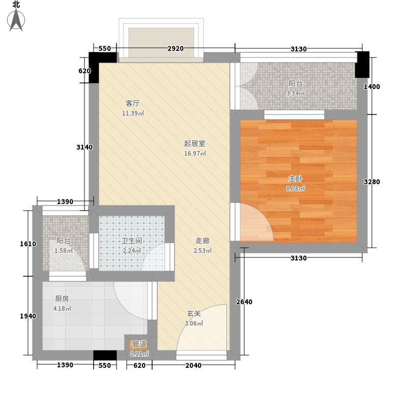 盛世名门45.00㎡世泽轩-2A1面积4500m户型