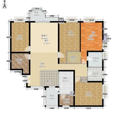 珠江广场4室1厅2卫1厨234.50㎡户型图