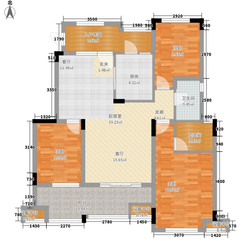 旭辉朗香郡99.53㎡一期2号楼A6-面积9953m户型
