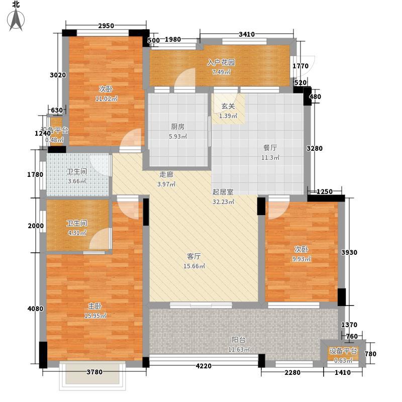 旭辉朗香郡99.02㎡一期2号楼A6-面积9902m户型