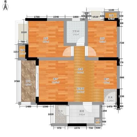 城市印象2室0厅1卫1厨62.00㎡户型图