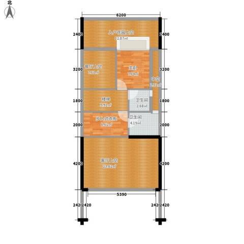 水云居1室0厅2卫0厨138.00㎡户型图