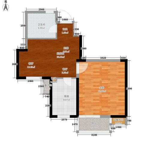 江临天下1室0厅1卫1厨64.75㎡户型图