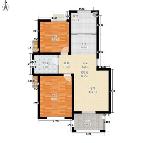 冠达・满庭芳2室0厅1卫1厨85.00㎡户型图