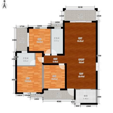 江临天下3室1厅2卫1厨127.00㎡户型图