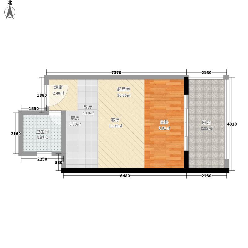 嘉和冠山海43.42㎡嘉和・冠山海二期3#4#G5-7户型