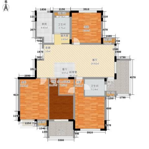 瓜渚绿洲4室0厅2卫1厨158.00㎡户型图